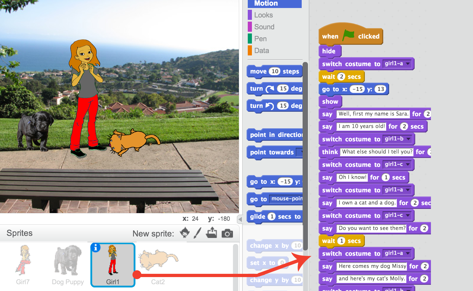 how to show and hide sprites in scratch
